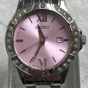 ⌚Women's Seiko 6N22 Swarovski Crystal Watch A321⌚